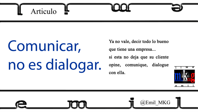Comunicar no es dialogar