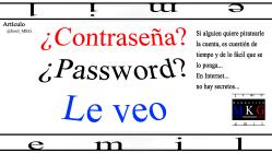 Contraseña Password Le veo