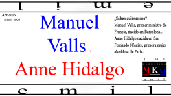 Manuel Valls o Anne Hidalgo
